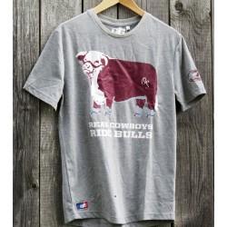 "Mens T-Shirt""Bull"" sportygrey"