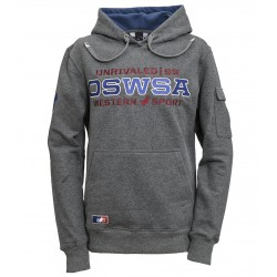 "HOODED ""UNRIVALED"" grey..."