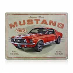 Blechschild: Ford Mustang -...