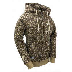 "HOODED JKT ""SHINY"" Leopard"